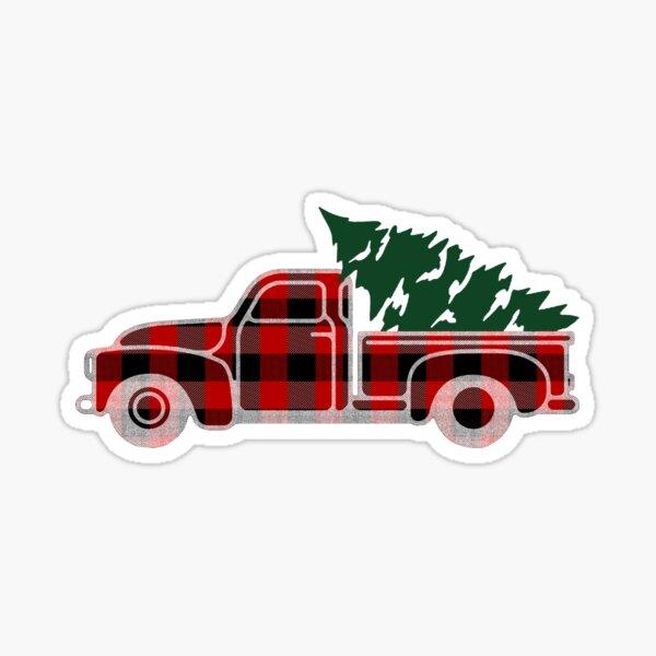 Christmas Tree Truck Sticker