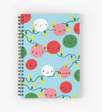 Pom Poms and Fairy Lights Spiral Notebook
