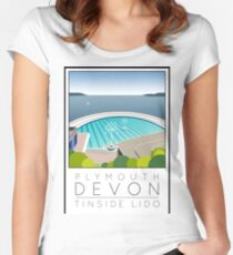 Lido Poster Plymouth Tinside Women's Fitted Scoop T-Shirt