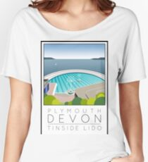 Lido Poster Plymouth Tinside Women's Relaxed Fit T-Shirt