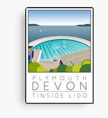 Lido Poster Plymouth Tinside Canvas Print