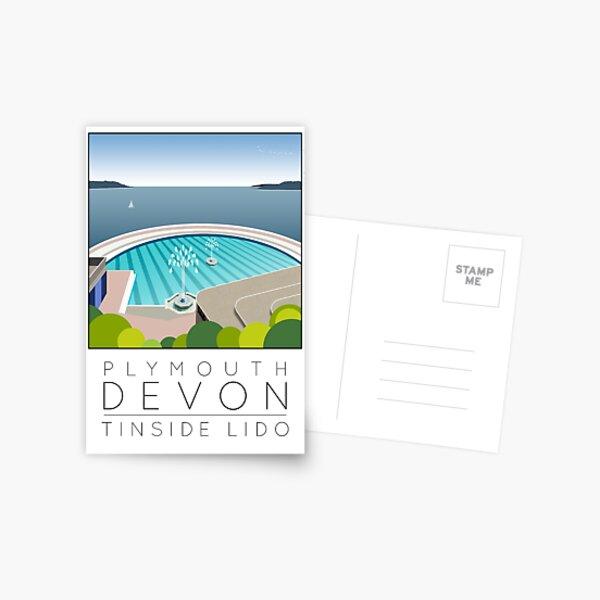 Lido Poster Plymouth Tinside Postcard