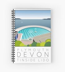 Lido Poster Plymouth Tinside Spiral Notebook
