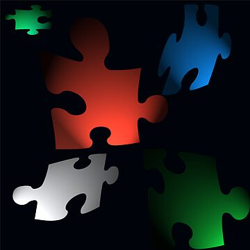 "life ""a jigsaw you complete in the dark"" by louiser"