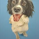 Police dog Freddie by Carole Russell