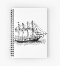 Sail Boat Spiral Notebook
