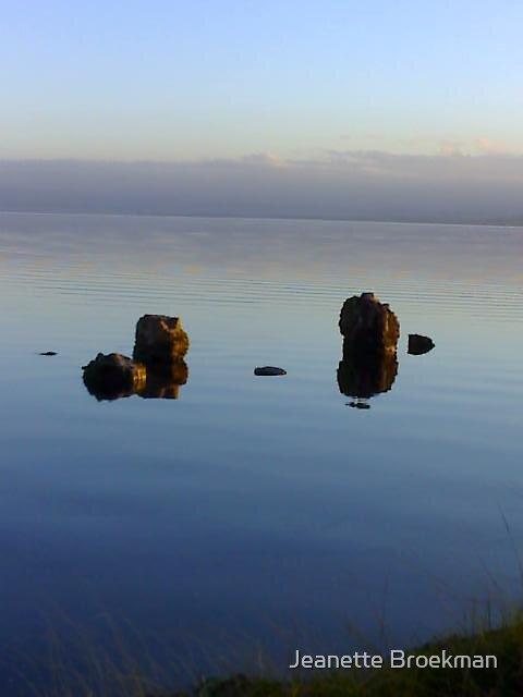 Rocks in Water by Jeanette Broekman