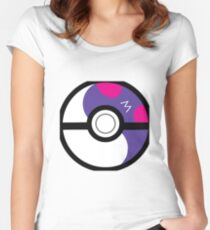 Masterball Ying Yang Women's Fitted Scoop T-Shirt
