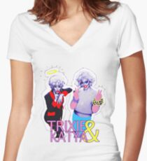 Trixie & Katya show Women's Fitted V-Neck T-Shirt