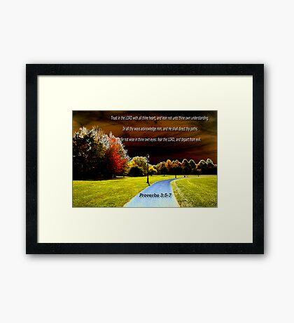 The Living Path Framed Print