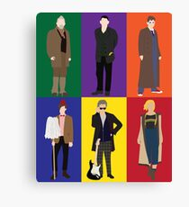 Doctor Who Character Print Canvas Print