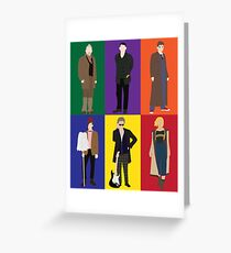 Doctor Who Character Print Greeting Card