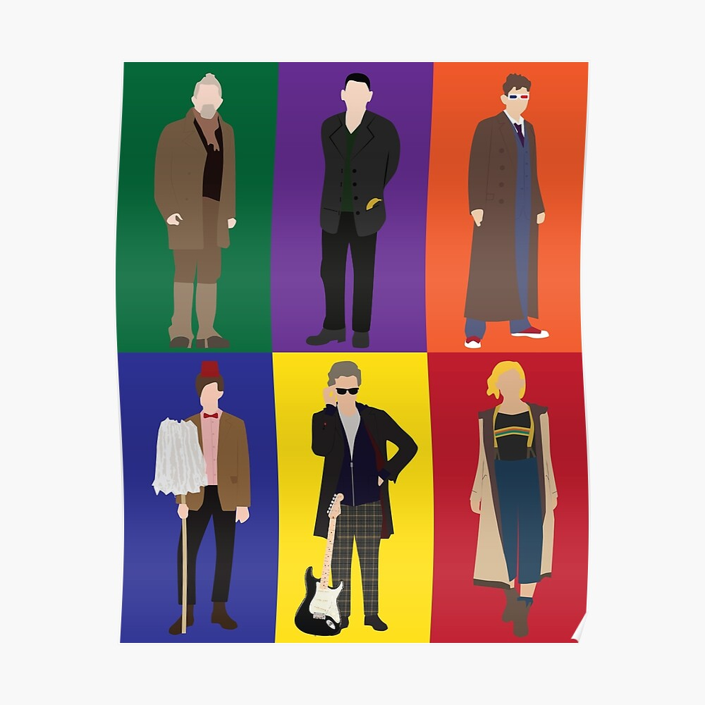 Doctor Who Character Print Poster
