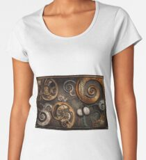 Steampunk - Abstract - Time is complicated Women's Premium T-Shirt