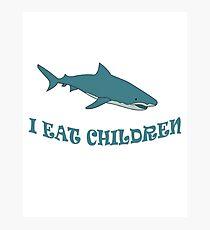 Shark I eat children Photographic Print