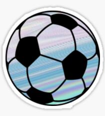 Purple/ Blue Soccer Ball Sticker