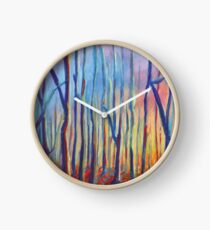 autumn landscape Clock