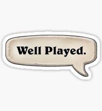 Well Played Emote Sticker