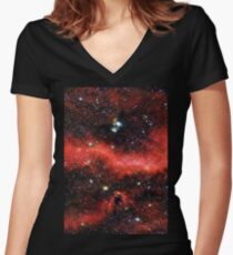 Pink Galaxy 2.0 Women's Fitted V-Neck T-Shirt
