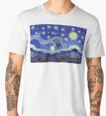 Starry Night Inspiration Tardis Time Machine Men's Premium T-Shirt