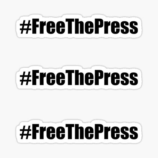 Free The Press Sticker