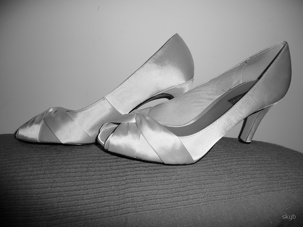 The brides shoes by skyb