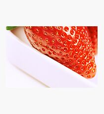strawberry close up Photographic Print