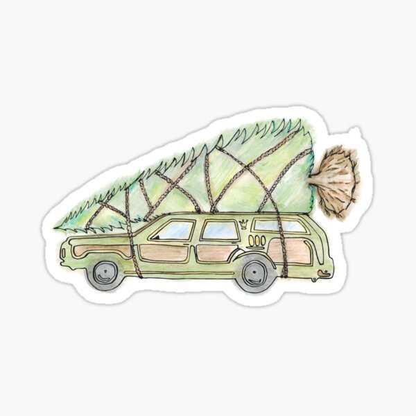 Griswold Family Christmas Tree Sticker