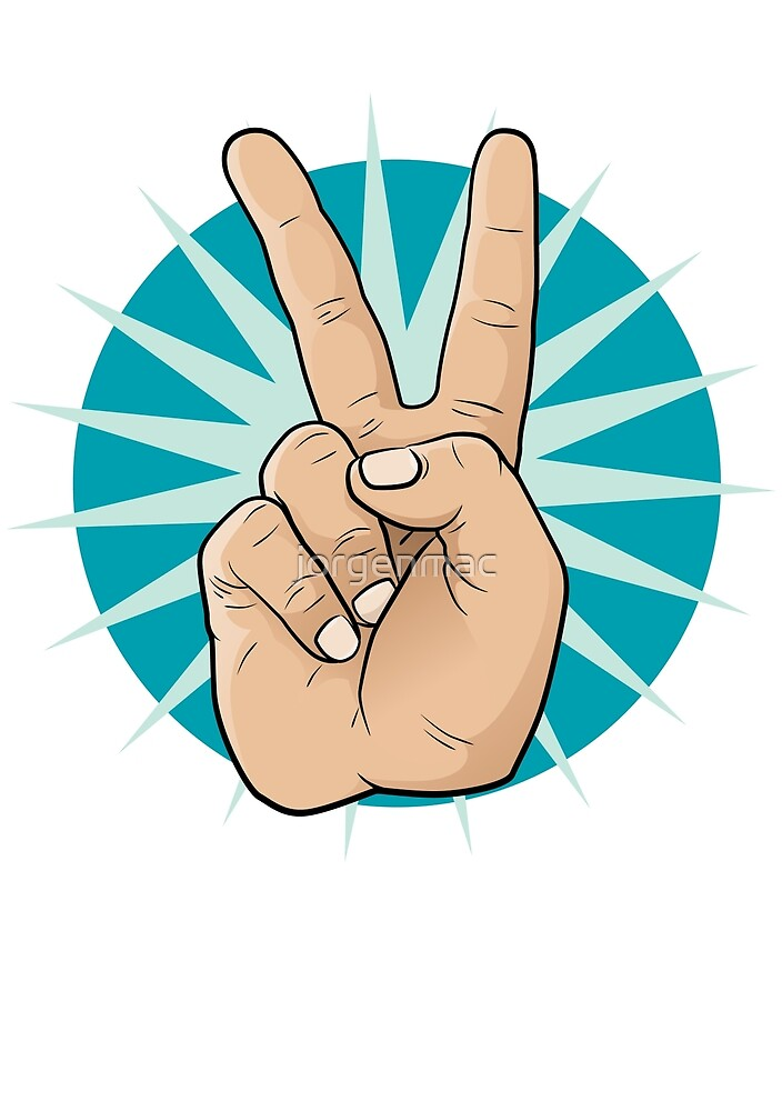 Pop Art Victory Hand Sign. by jorgenmac
