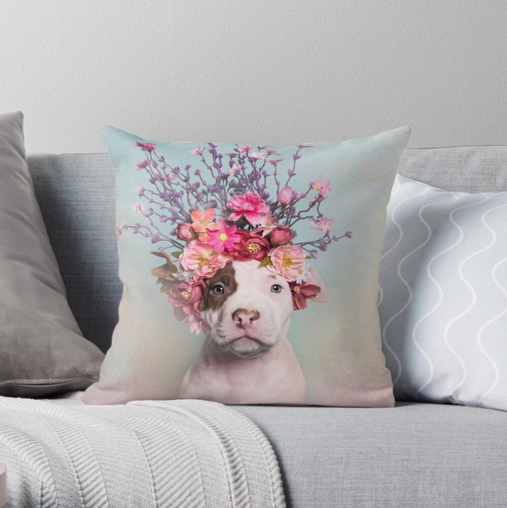 Flower Power, Rum Throw Pillow