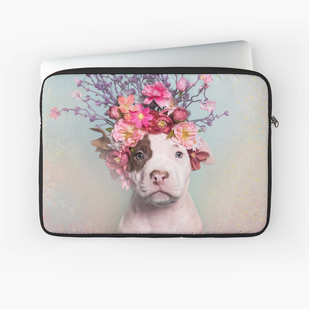 Flower Power, Rum Laptop Sleeve