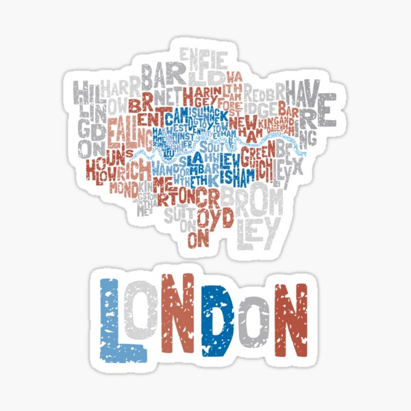 London Boroughs in Type Sticker