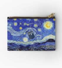 Starry Night Inspiration Tardis Time Machine Studio Pouch