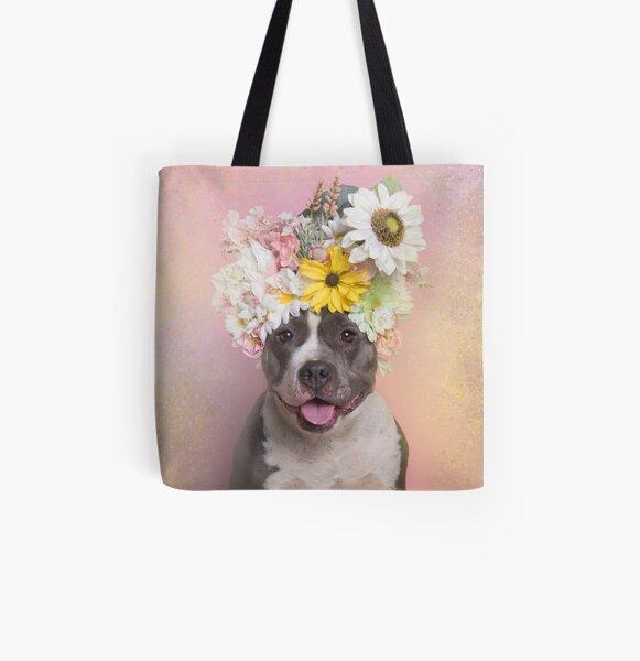 Flower Power, Wren All Over Print Tote Bag