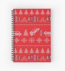 Stranger things Christmas Spiral Notebook