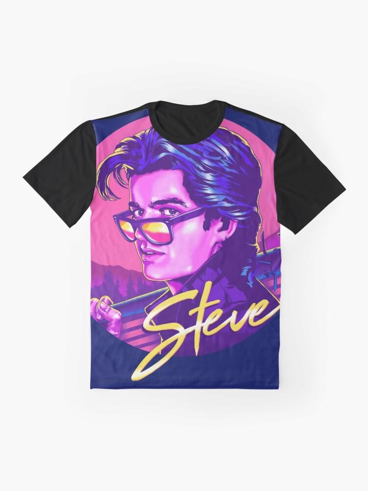 Alternative Ansicht von Fremde Dinge Steve Harrington | Verfügbar auf Maske Grafik T-Shirt