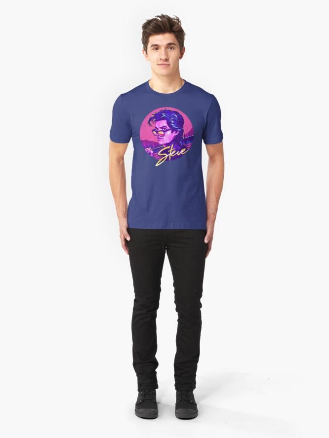 Alternate view of Stranger Things Steve Harrington Slim Fit T-Shirt