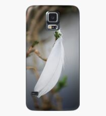 Suspended white feather Case/Skin for Samsung Galaxy