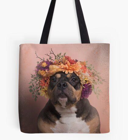 Flower Power, Raven Tote Bag