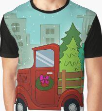 Christmas Truck Graphic T-Shirt