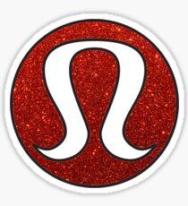 lululemon red glitter Sticker