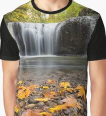 Fall Maple Leaves at Hidden Falls Graphic T-Shirt