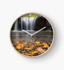 Fall Maple Leaves at Hidden Falls Clock