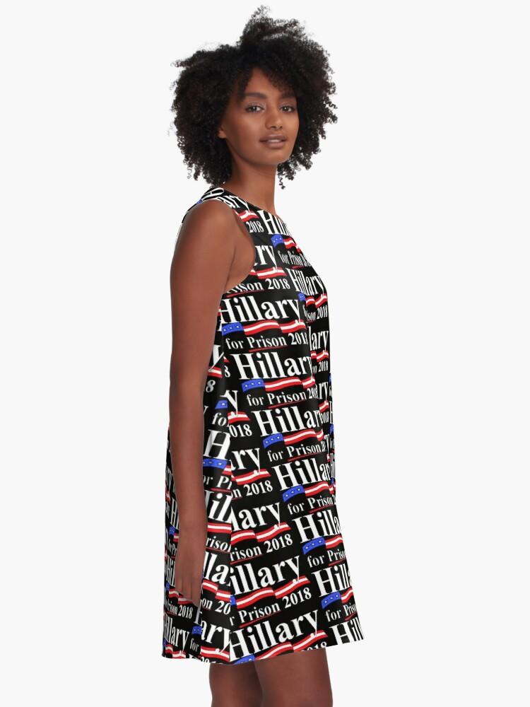Alternative Ansicht von Hillary für das Gefängnis 2018 A-Linien Kleid