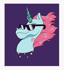 Rad Magic Pony Head Photographic Print