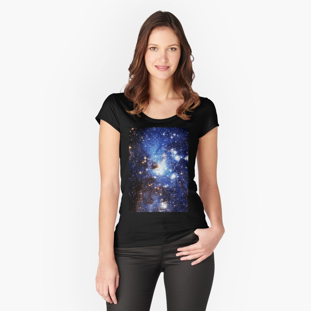 Blue Galaxy 3.0 Women's Fitted Scoop T-Shirt Front