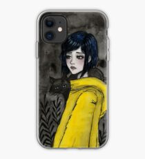 Gelber Regenmantel iPhone-Hülle & Cover