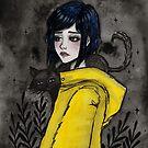 Gelber Regenmantel von ARiAillustr