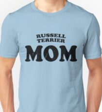 Russell Terrier Mom Dog Mother Cute Pet Distressed T-Shirt Gift For Animal Lover Shelter Worker Funny Unisex T-Shirt