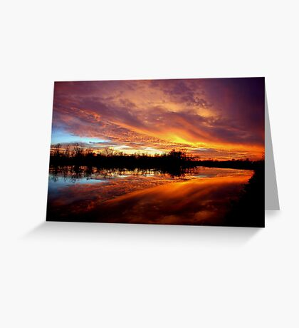Super Sunset Greeting Card